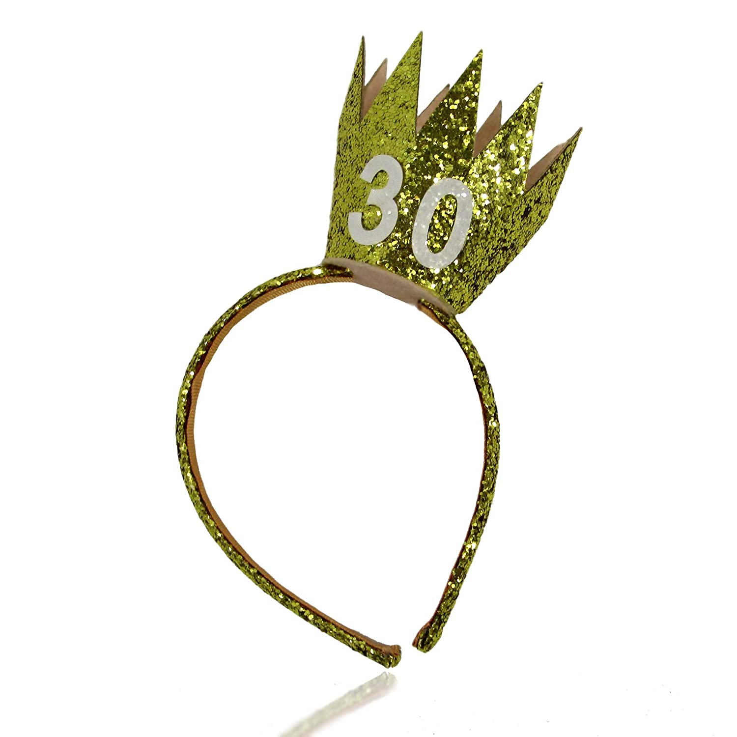 Amazon.com  Fun 30th Birthday Sparkly Gold Crown Headband Tiara and Party  Hat Alternative Unisex One Size  Health   Personal Care 116bbc51d65