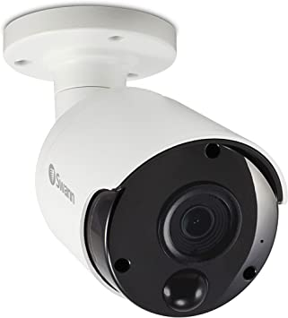 White NEW Swann SWNHD-865MSB-US 5MP Outdoor Network Bullet Camera with Audio