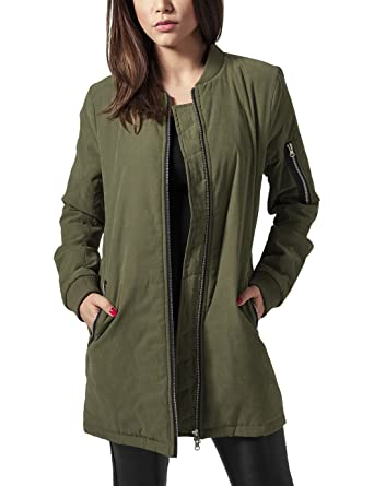 Urban Classics Ladies Peached Long Bomber Jacket Chaqueta ...
