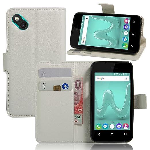 4 opinioni per Guran® Custodia in Pelle per Wiko Sunny Smartphone di Funzione di in Piedi e