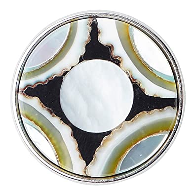Chunk Noosa Hara No Mushi Black White Blue Shell (Argent)  Amazon.fr ... 55a85abbd0f