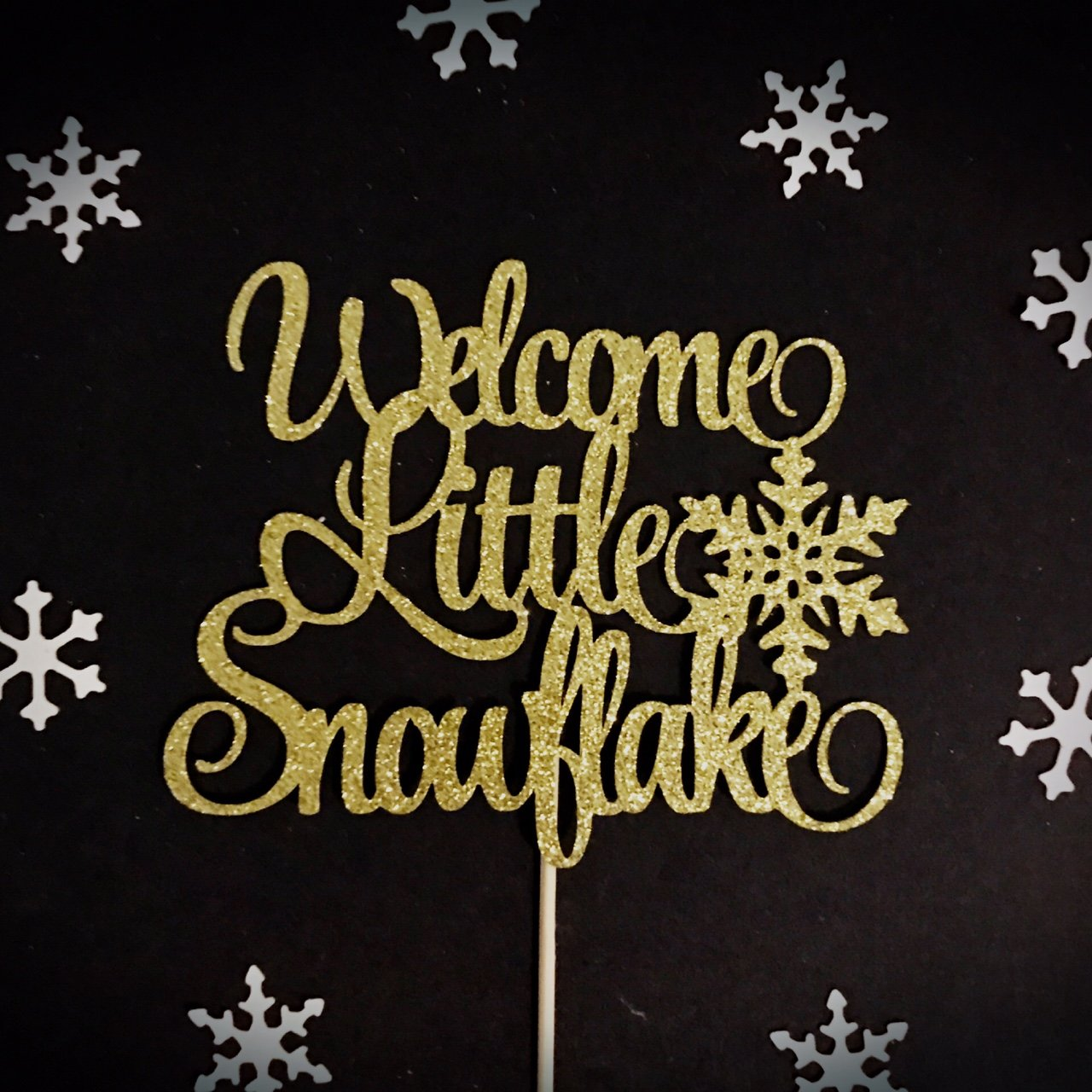 Welcome Little Snowflake Cake Topper, Snowflake Cake Topper, Winter Onederland Cake Topper, Winter Baby Shower Cake Topper, Winter Birthday Cake Topper, Little Snowflake Party Decorations, Winter Baby Party Decorations