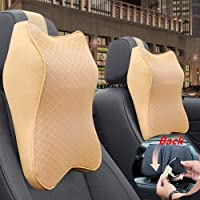 UAE Official Store 2 Pack Car Seat Headrest Neck Rest Cushion, Car Seat Neck Pillow 100% Pure Memory Foam Neck Pillow…