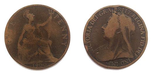 Münzen Für Sammler Circulated 1900 Britischen Queen Victoria One