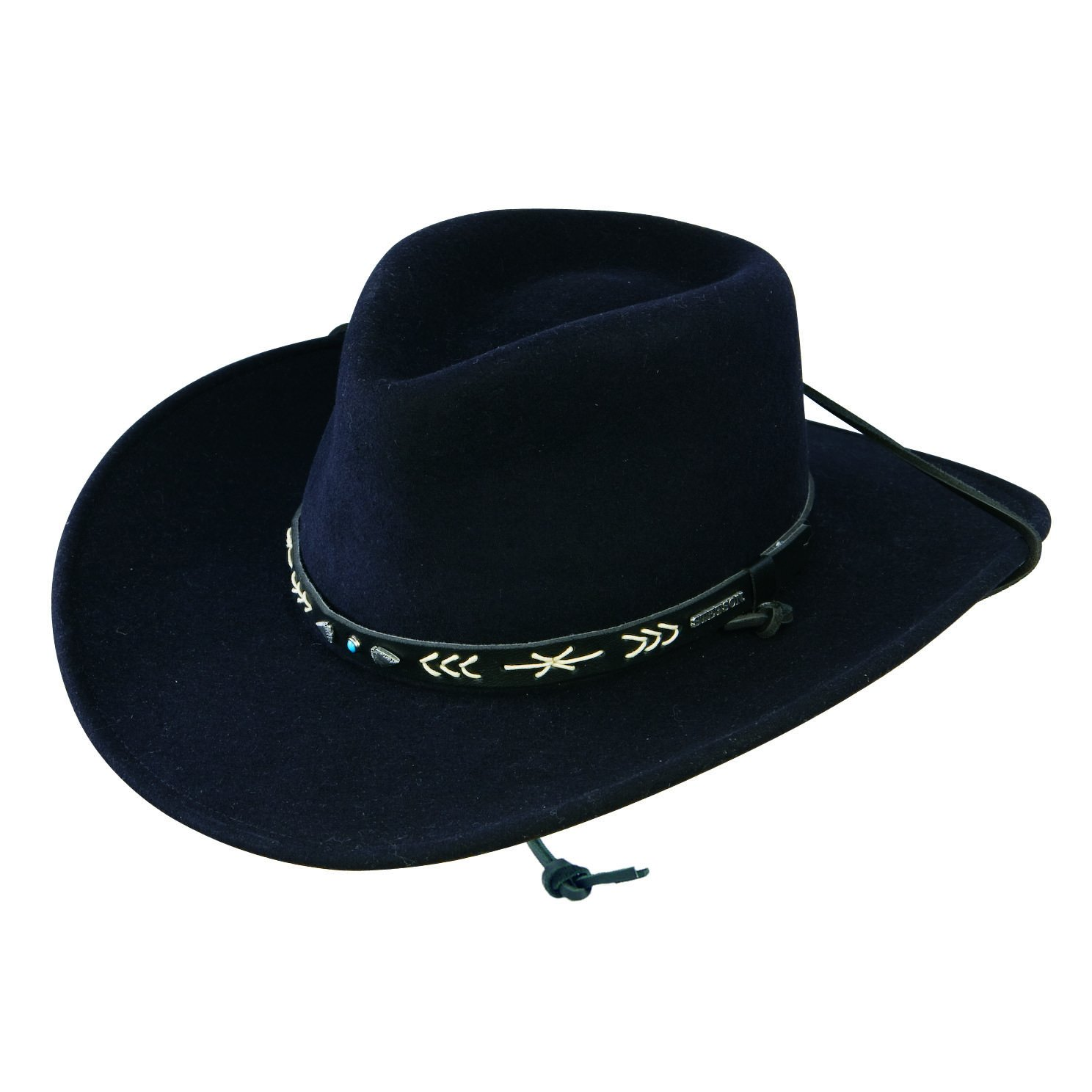 Stetson Men's Santa Fe Crushable Wool Hat - 7 7/8 - Black
