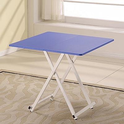réglable Table pliante / Table carrée / Table portative / Bureau pour enfants / Table pour ordinateur portable / Table de rangement en bois massif pour la maison / 80 * 80 * 72CM Peut être tourné (
