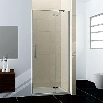 80x185cm Duschabtrennung Duschtür Nischentür Dusche Drehtür NANO Duschwand