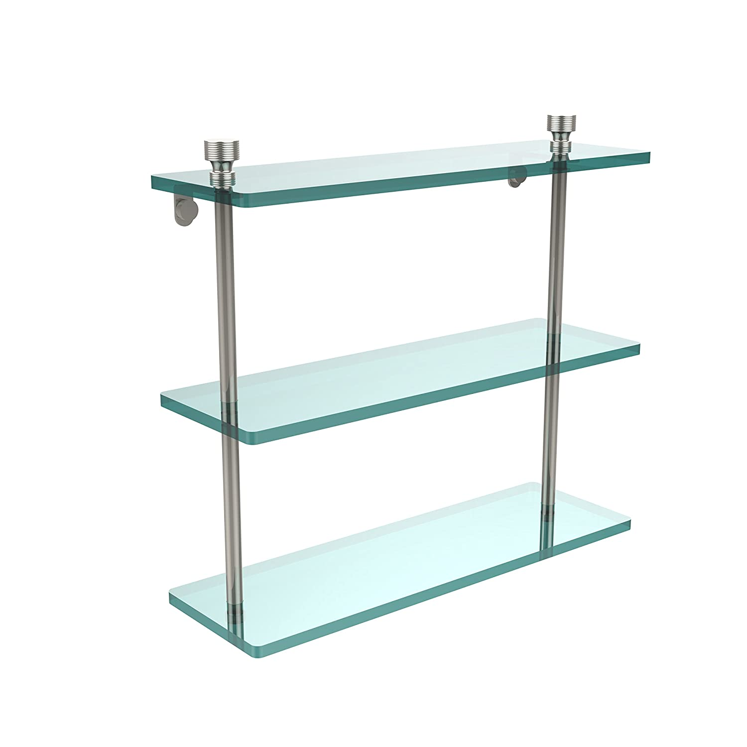 Allied Brass FT-5/16-PNI Triple Glass Shelf 16 Polished Nickel by Allied Brass B00319USXG  光沢ニッケル