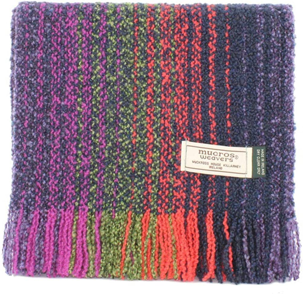 Ladies Merino & Cashmere Scarf - Made in Ireland, Handwoven Irish Scarf