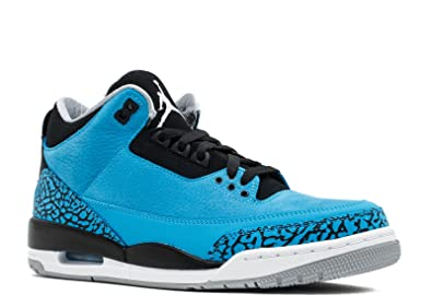 sports shoes b4386 37e21 Jordan Air 3 Retro Men s Basketball Shoes Dark Powder Blue White-Black-Wolf