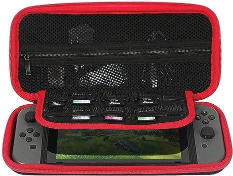 Nintendo Switch Estuche de consola Estuche de viaje / almacenamiento Estuche rígido Lleva hasta 10 cartuchos de juego: Amazon.es: Videojuegos