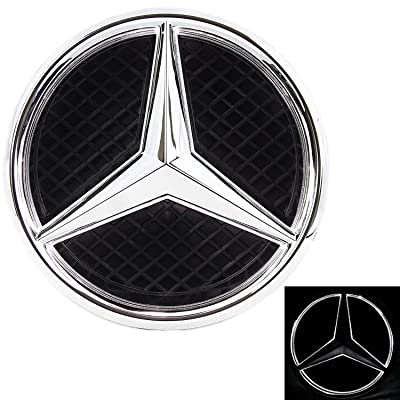 LED Emblem for Mercedes Benz 2011-2020, Front Car Grille Badge, Illuminated Logo Hood Star DRL, White Light - Drive Brighter (W205 C-Class, W212 E-Class, C117 CLA-Class, etc): Automotive