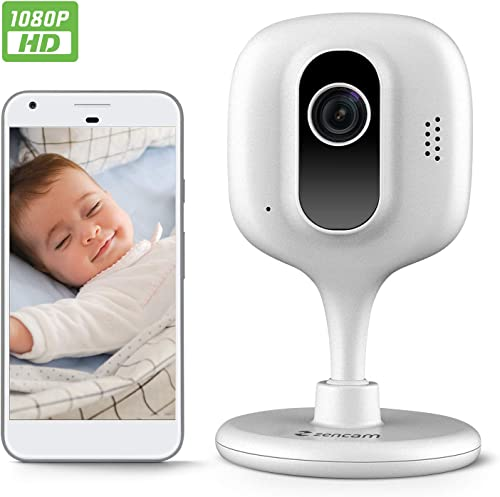 Zencam 1080p WiFi Camera, Indoor Security Wireless IP Camera, Two-Way Talk, Night Vision for Home, Office, Baby, Pet Cam with MicroSD Cloud Storage, White Updated Firmware 2020 Version E2W