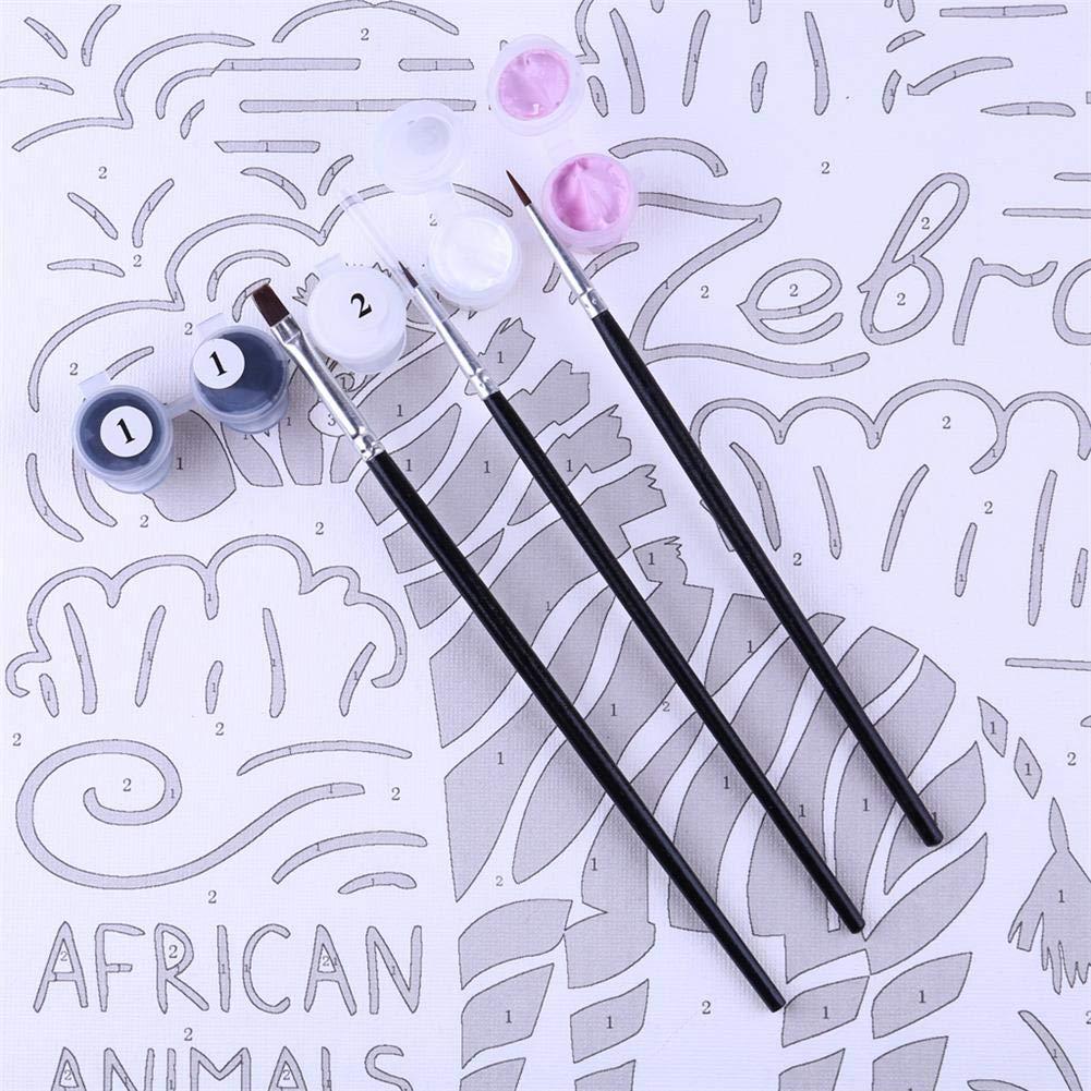 01 hualieli Pintura al /óleo para Adultos y ni/ños 1012 Pulgadas Pintura Digital por n/úmeros con Pinceles y Pigmento acr/ílico 8