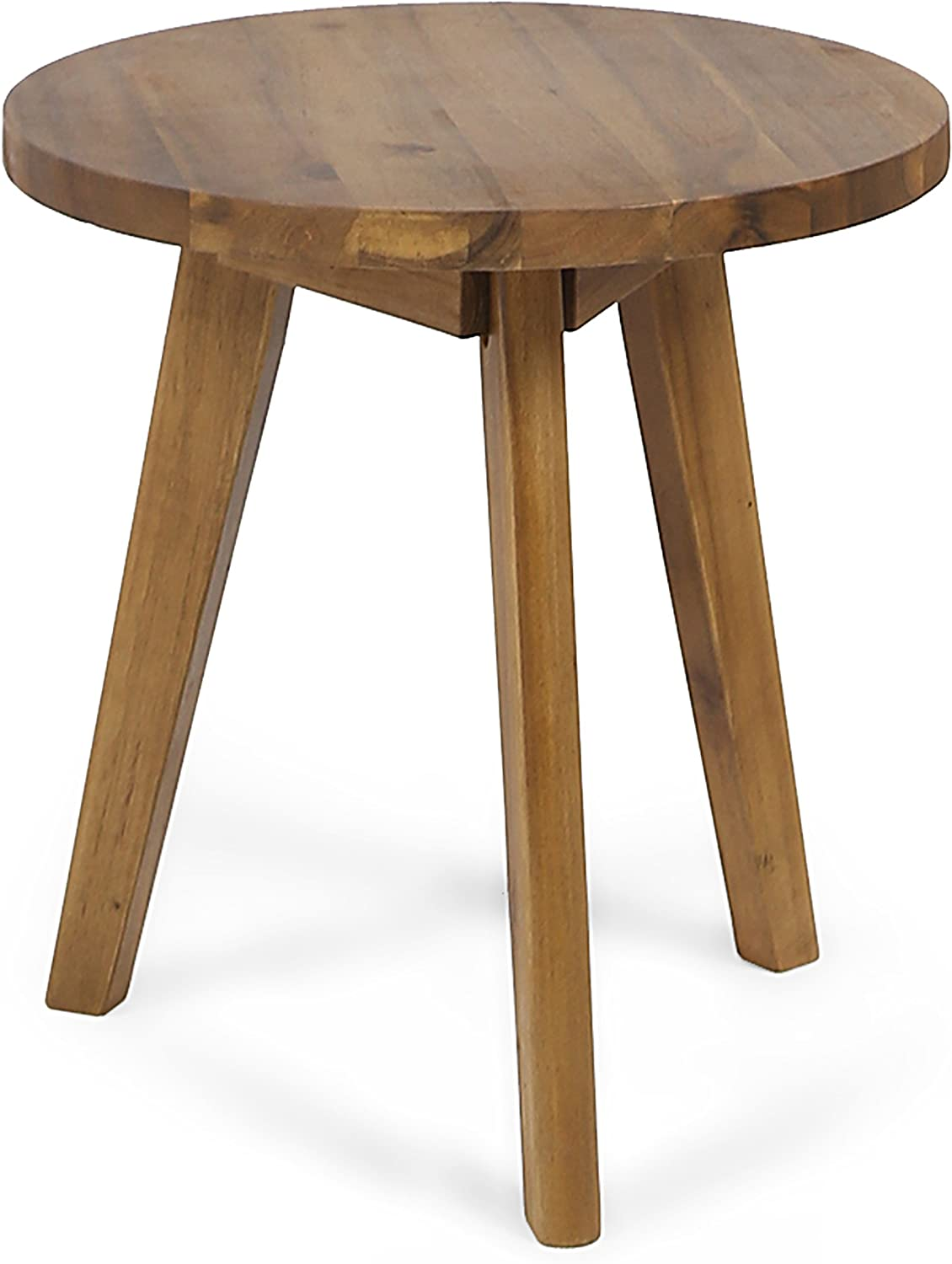 Christopher Knight Home 305360 Gino Outdoor Acacia Wood Side Table, Natural Finish