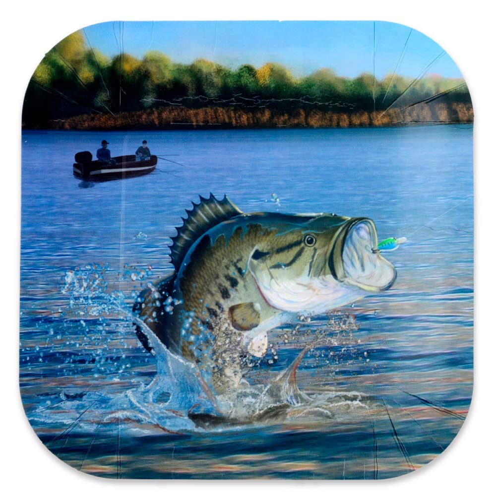 Cups FAKKOS Design Gone Fishing Party Supplies for 16 Guests Paper Plates Napkins
