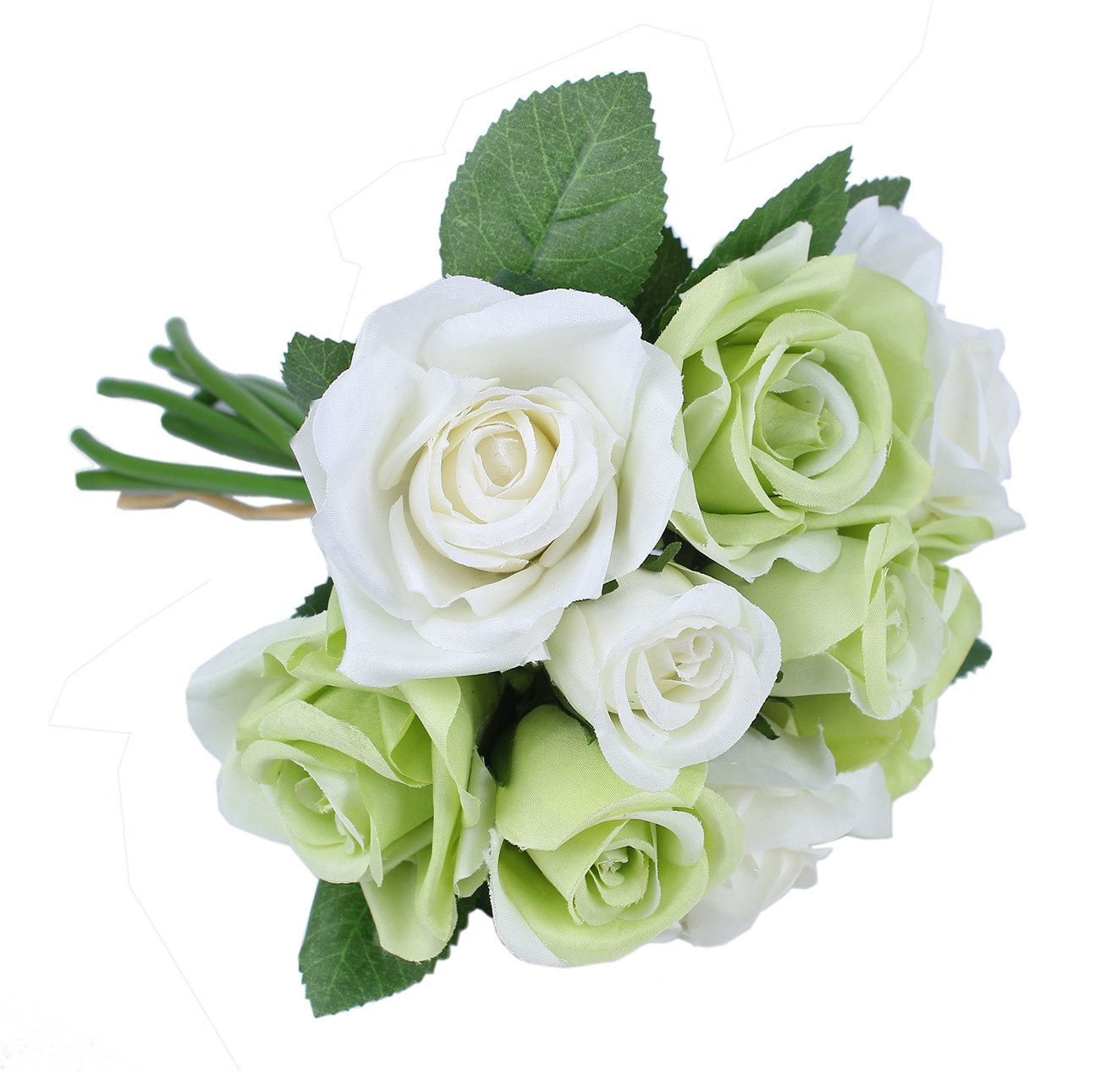 Artificial Flowers 9 Heads Rose Bouquets Fake Flower For Wedding