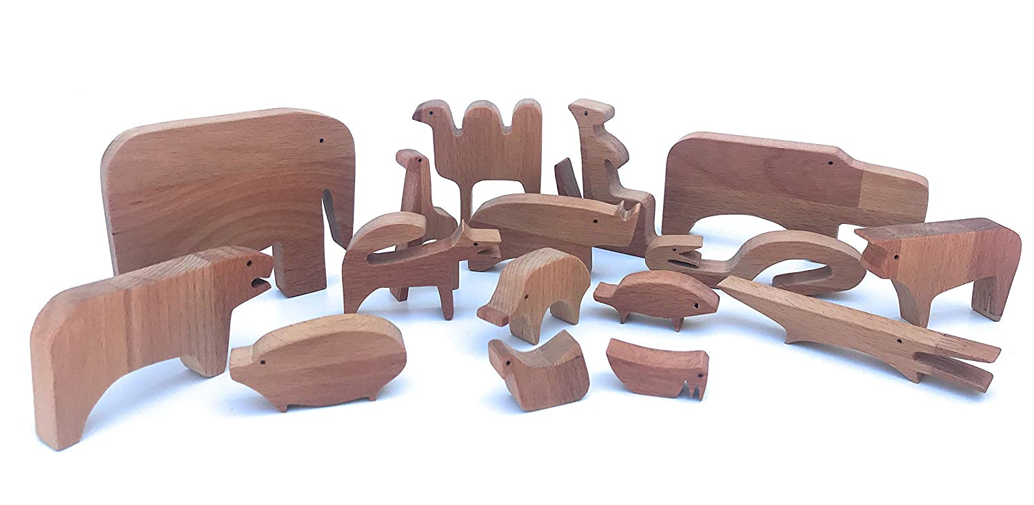 Natural Waldorf Toys For Kids 16 Animali Enzo Mari Wooden Puzzle Wooden Animals Puzzle