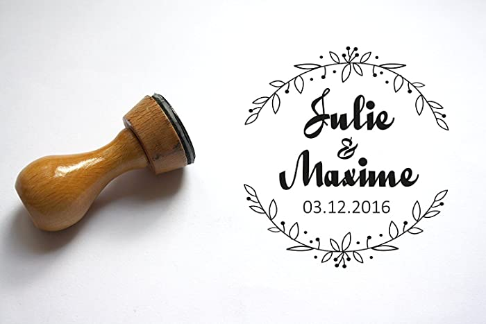 19922853ea Amazon.com: Personalized wedding stamp. Custom stamp with your names ...
