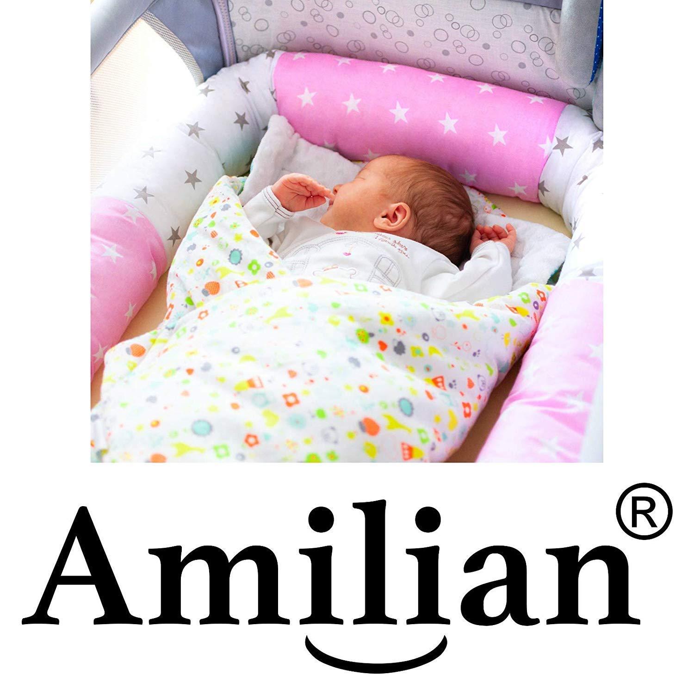 Amilian/® Bettschlange Nestchen Nestchenschlange Bettrolle 210 cm BOA03