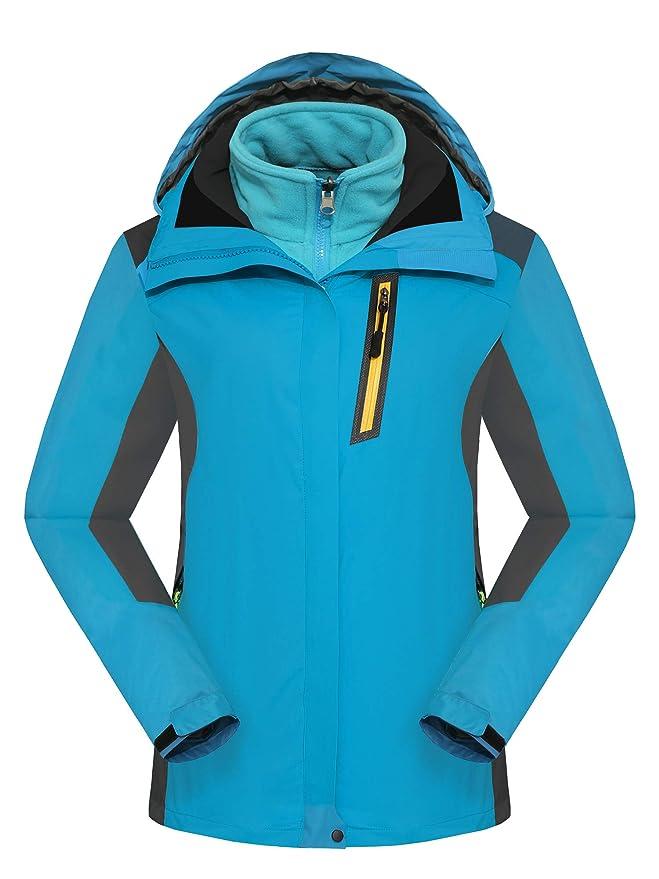 Walkvel Mujer Chaqueta de Montaña Impermeable 3-en-1 Abrigo Cortaviento para Senderismo: Amazon.es: Deportes y aire libre