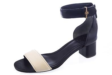 1a8440cf4a67 Tory Burch Tana Sandals 6.5 Black Ivory