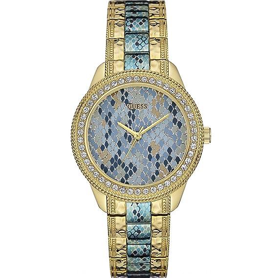 Guess Reloj analogico para Mujer de Cuarzo con Correa en Acero Inoxidable W0624L1: Amazon.es: Relojes