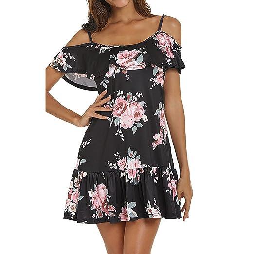 1aa5053f81 Womens Dresses Summer Casual V-Neck Floral Print Geometric Tie Front  Spaghetti Strap Midi Dress