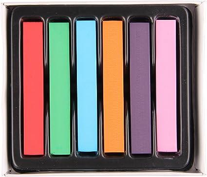 Beauty7 Tinte Set de 6 Colores para Tizas Pastel para Teñir ...