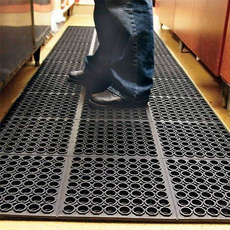 Kitchen Anti-fatigue Drainage Rubber Non-slip Hexagonal Mat Entrance Grip Mat