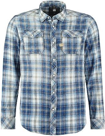 G-STAR RAW -Camisa Abotonada Hombre: Amazon.es: Ropa y accesorios