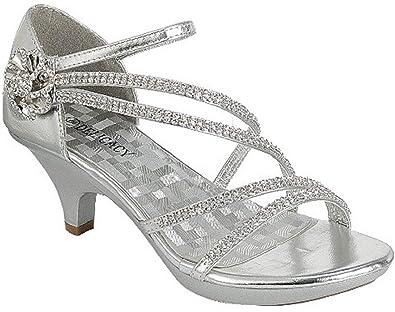 907f8f9e82e Amazon.com | Angel-48 Women's Low Heel Dance Wedding Sandals Dress ...