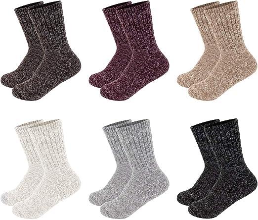 30 Pairs Men's Women's Wool Socks Warm Angora Luxury Everyday Wholesale UK