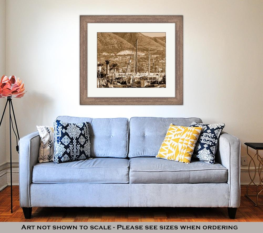 Amazon.com: Ashley Framed Prints Fishing Harbor of ...