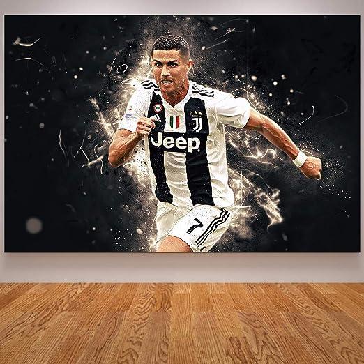 Cristiano Ronaldo Football Sports Wall Art Canvas Print Framed Box ~ Many Size