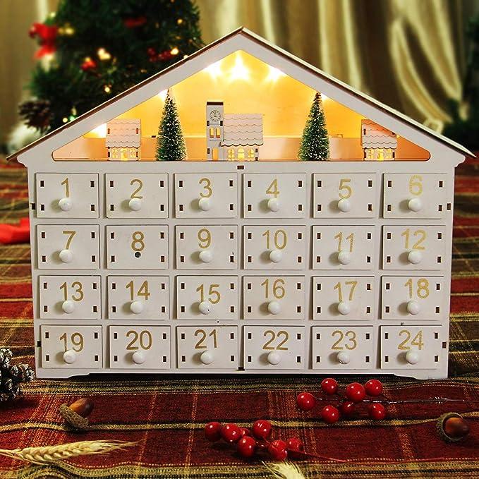 Amazon.com: MorTime 24 Day Advent Calendar Premium Christmas Décor
