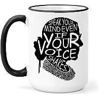 Speak Your Mind - Ruth Bader Ginsburg - RBG Coffee Mug