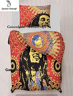 Edredon Bob Marley.Lazy Days Reversible Duvet Bob Marley King Size Amazon Co Uk