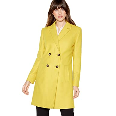 bd073c17a6a Debenhams The Collection Womens Lime Double Breasted Coat  The Collection   Amazon.co.uk  Clothing