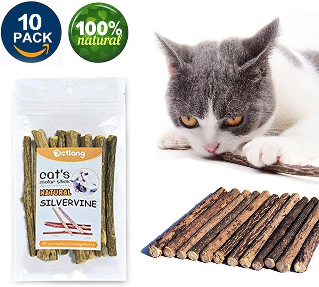 VMIZIV Cat Catnip Chew Sticks, 10/20/50 Pcs Natural Matatabi Silvervine Sticks Chew Toys Cat Treats Sticks Natural Cat Dental Chews for Teeth Cleaning