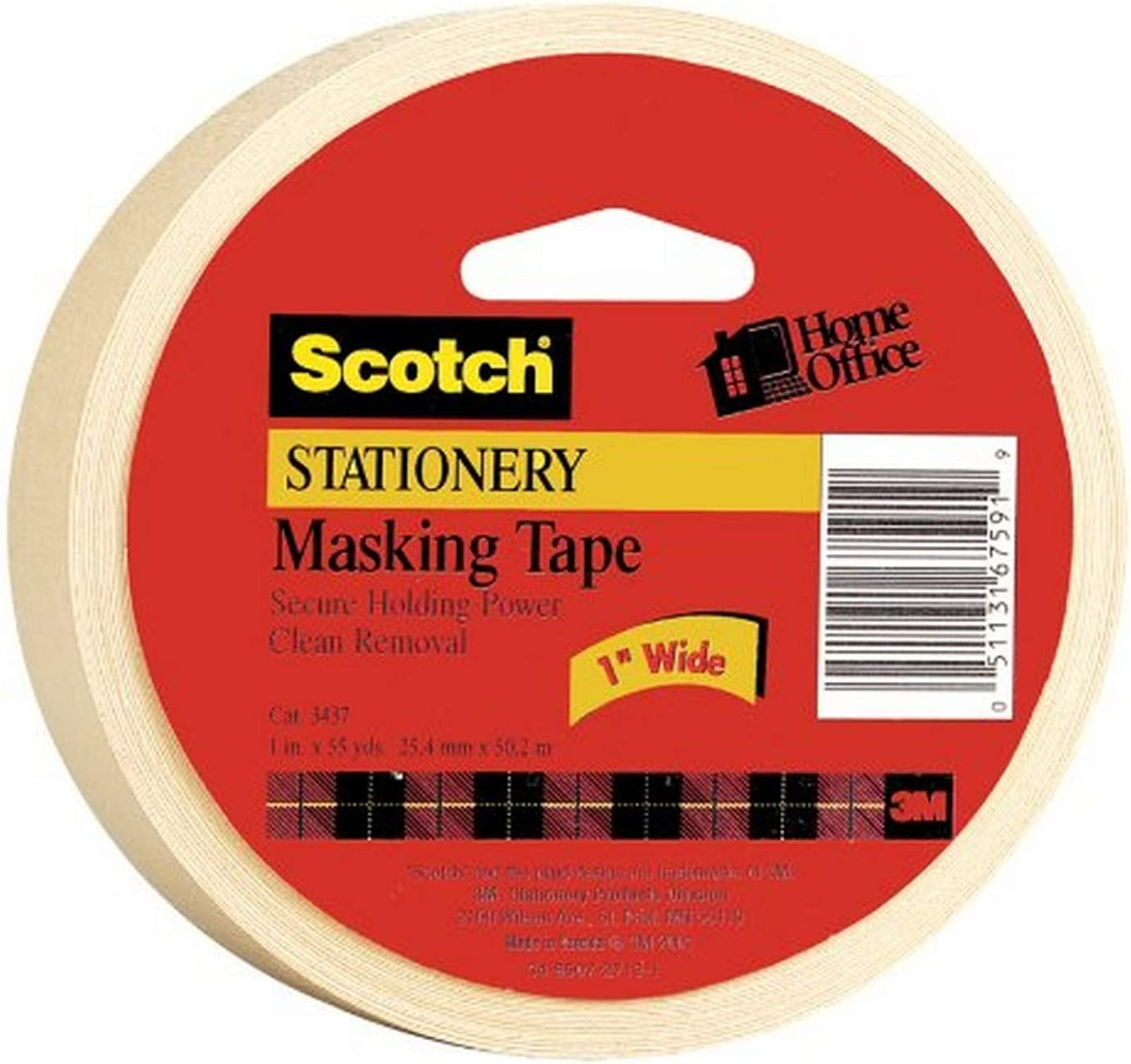 Free Shipping R Scotch Home and Office Masking Tape 3436-3 3//4-inch x 60 Yar..