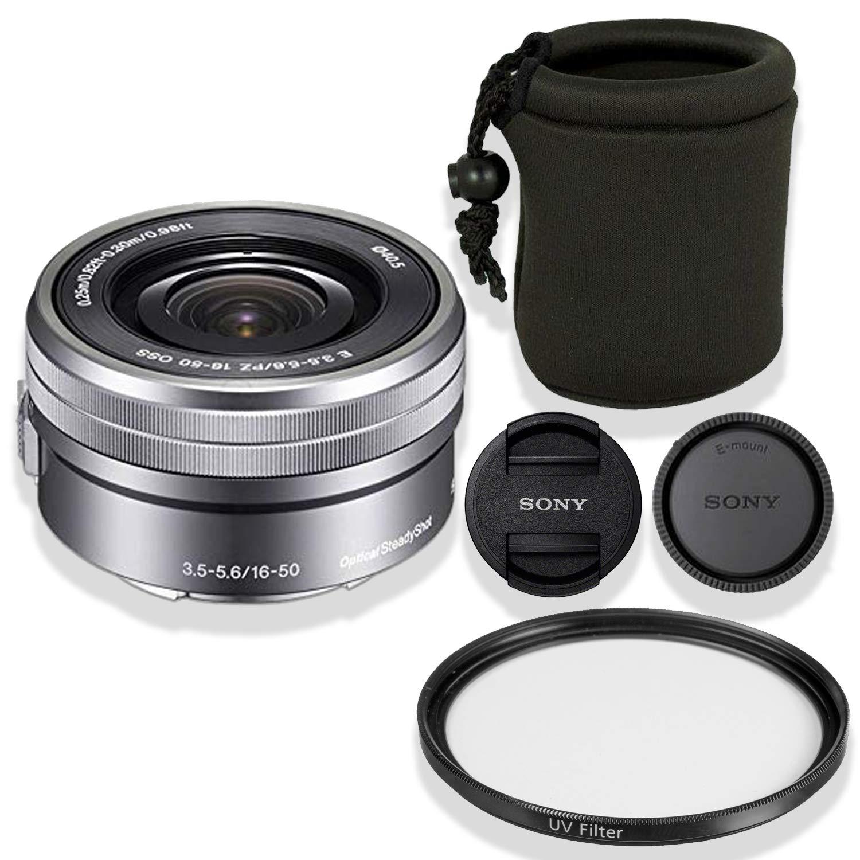 Sony + PZ E PZ 16-50mm f/3.5-5.6 OSS レンズ レンズ (シルバー) バンドル + デラックスレンズポーチ + ハイデフUVフィルター (ホワイトボックス) B07GHNG6NM, select shop crea:edcfbd11 --- ijpba.info