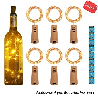0f8875a69ad kolpop 3m 30 LED Luces Botella (6 Pack)