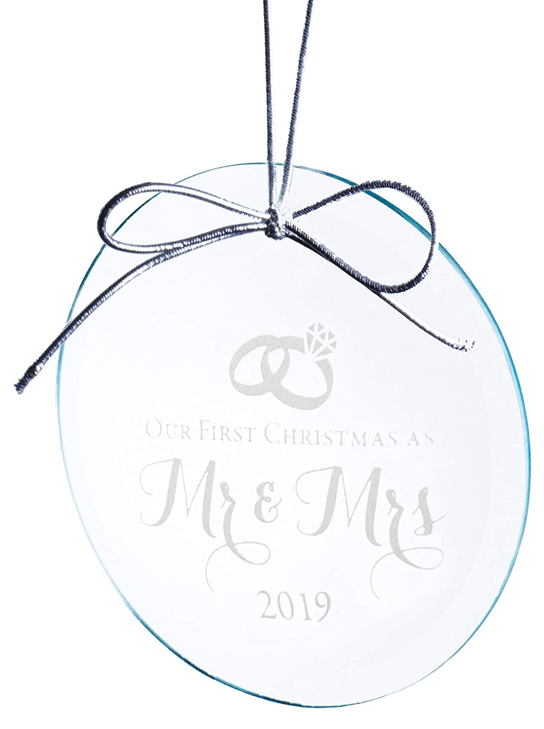 Our First Married Christmas Ornament 2019 Amazon.com: Mr and Mrs Wedding Ornament 2019   Elegant Design