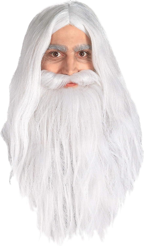 Generique - Peluca y Barba de Gandalf de El Señor de los Anillos ...