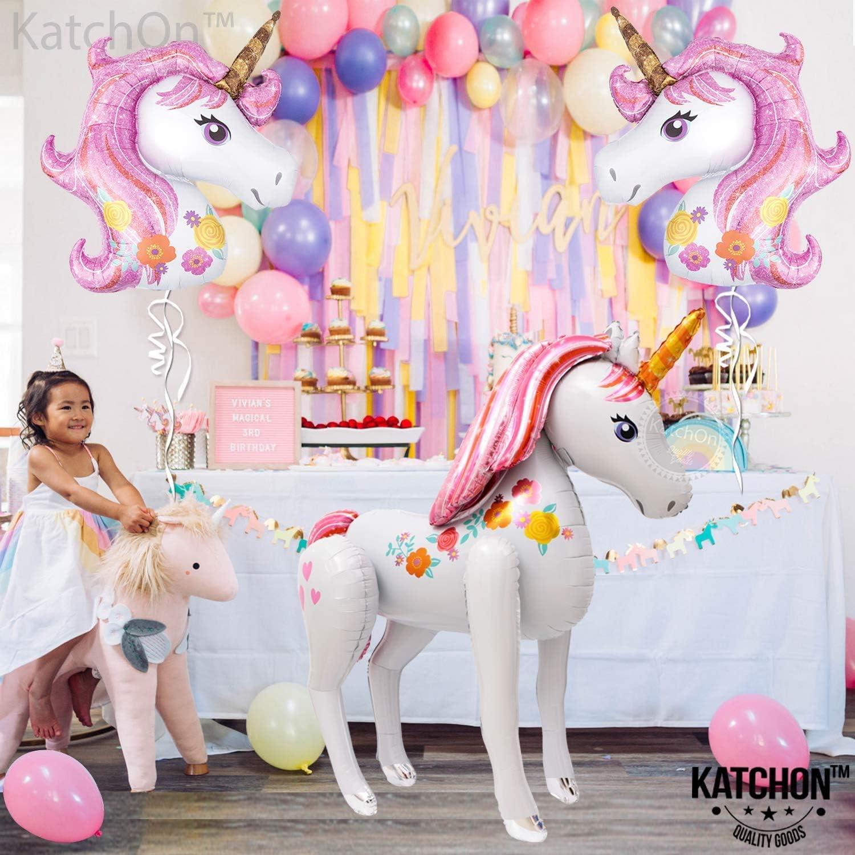 Giant Unicorn Party Balloon  Large 46 Mylar Rainbow Unicorn Party Decor  Girl/'s Birthday Decorations  Kids Unicorn Themed Balloons