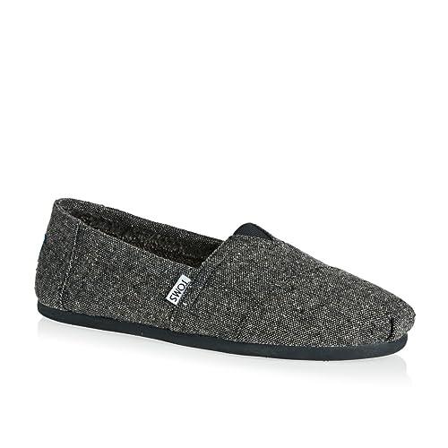 TOMS Hombres Charcoal Gris Tweed Alpargata Espadrilles: Amazon.es: Zapatos y complementos