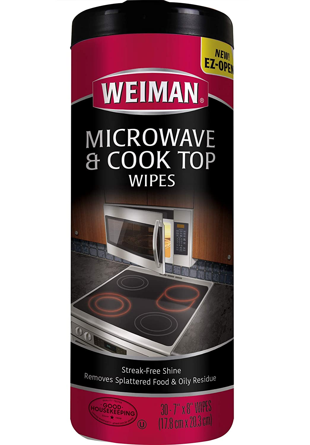 Weiman Microwave & Cook Top Wipes - 4 packs of 30 wipes