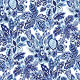 Jillson Roberts R258.1 6 Roll-Count All-Occasion Floral Gift Wrap Available in 11 Different Designs, Azul Paradise