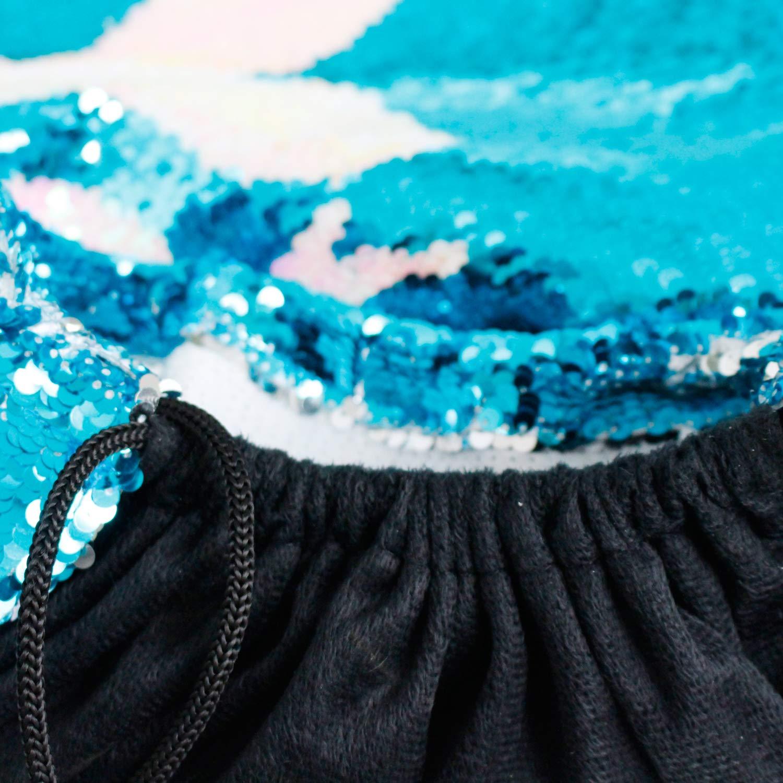 Bolso tipo mochila con lazo y lentejuelas sirena con llavero de sirena lentejuelas reversibles m/ágicas Brillo para ir de excursi/ón Gimnasio Bolsa de cumplea/ños Favores para regalos Regalos (4 piezas)
